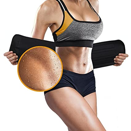 4917bee4bd Amazon.com  ASOONYUM Waist Trainer Trimmer Shaper for Women Men ...