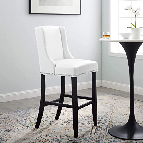 Modway Baron Faux Leather Upholstered Dining Bar Stool