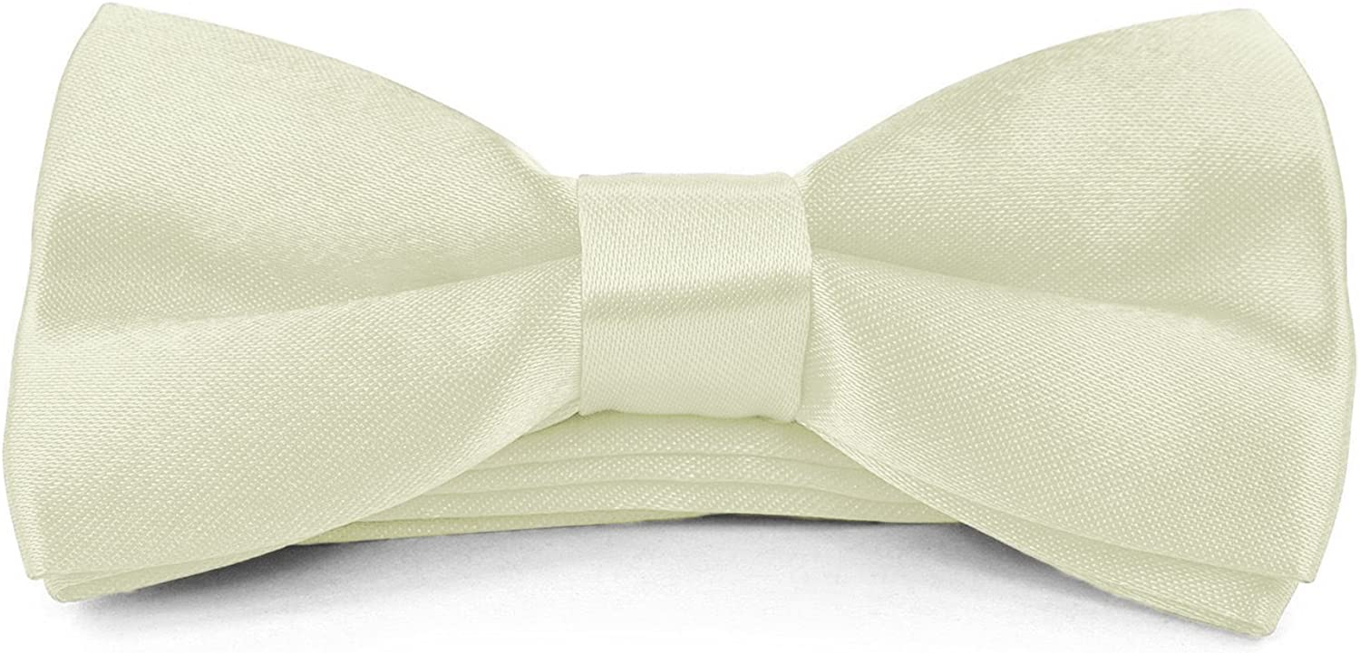 Boys Kids Adjustable Pre Tied 4x2 Satin Silk Bow Ties