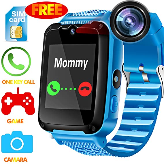Amazon.com: Kids Phone Smart Watch - [Speedtalk SIM Included] Kids Smartwatch for 3-12 Year Boys Girls Touch Screen Camera Game Alarm Clock Sport Outdoor ...