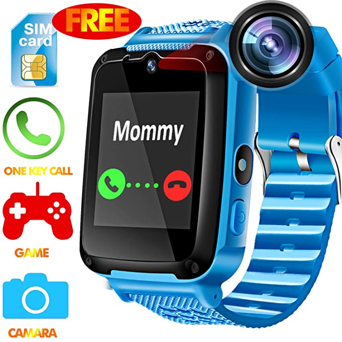 Kids Phone Smart Watch - [Speedtalk SIM Included] Kids Smartwatch for 3-12