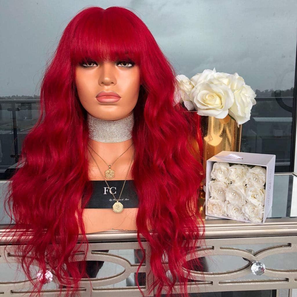 Peluca de moda para mujer, de pelo largo rizado y sintético ...