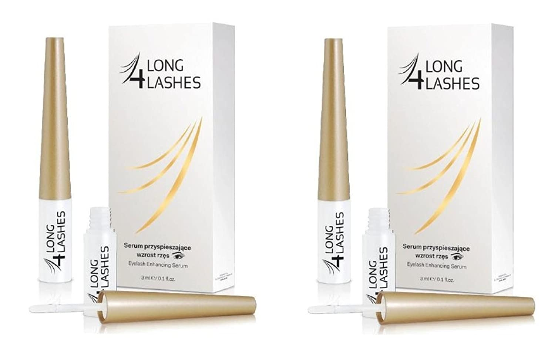e1572eb15ff Amazon.com: Long 4 Lashes by Oceanic Eyelash Enhancing Serum, 3 ml (Pack of  2): Beauty