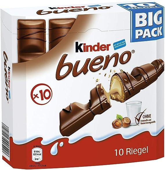 Ferrero - kinder bueno Big Pack 10 barras 215g: Amazon.es ...