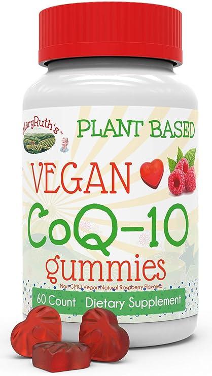MaryRuth Organics Vegan CoQ10 gomitas vegetal cuenta de 60 120mg por porción (2 gomitas)