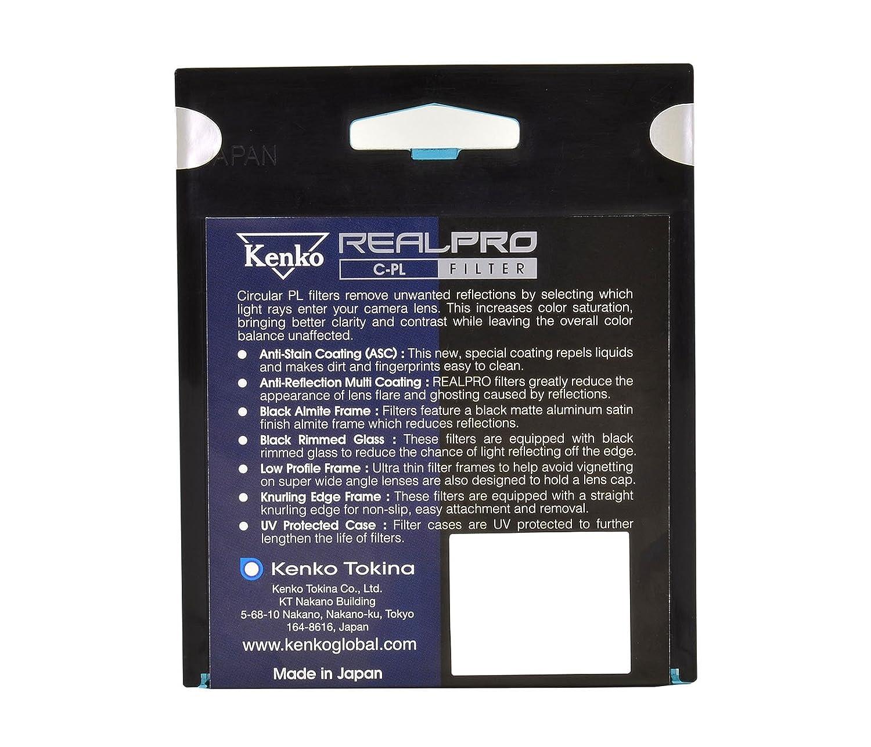 schwarz 77mm Kenko 77S REAL PRO MC C-PL Polarisationsfilter 77mm mit Anti-Schmutz-Beschichtung
