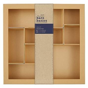 Papermania – Sombra compartimento MDF/cajas de cartón manualidades decoración en blanco – 12 x