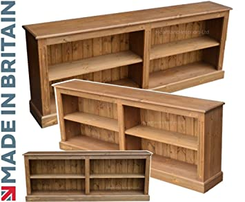 best service 90ae0 72069 Heartland Pine Solid Pine Bookcase, 6ft Wide Low Adjustable ...