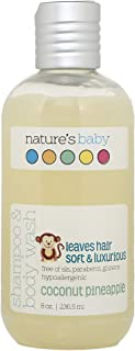 product image for Nature's Baby Organics Baby Shampoo And Body Wash, Moisturizing Tear Free Baby Shampoo All Natural Baby Wash With Organic Ingredients, No Sulfate or Paraben, Coconut Pineapple, 8 oz, 1 Pack