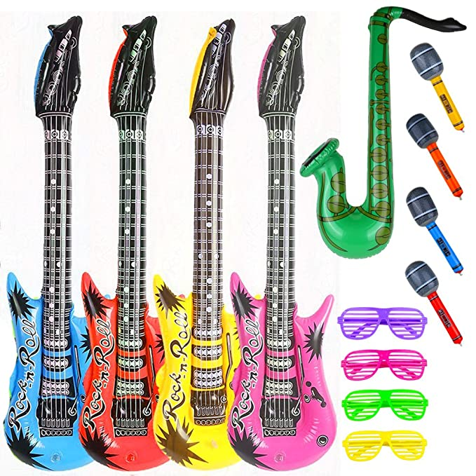 Amazon.com: Party Rock Star Juguete Inflable Set 13 Unidades ...