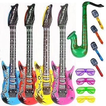 Amazon.com: Party Rock Star Juguete Inflable Set 13 Unidades ...