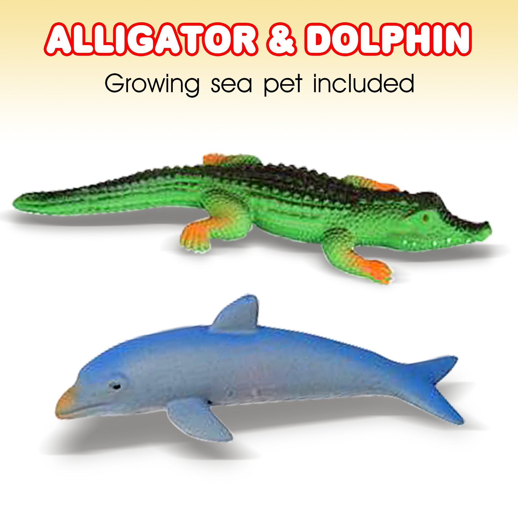 ArtCreativity Growing Sea Animals 6 Different Water Expanding Sea Creatures  Grows 6X Larger   Amazing Sensory Jelly-Like Toy   Fun & Educational Gift for Boys & Girls. by ArtCreativity (Image #4)