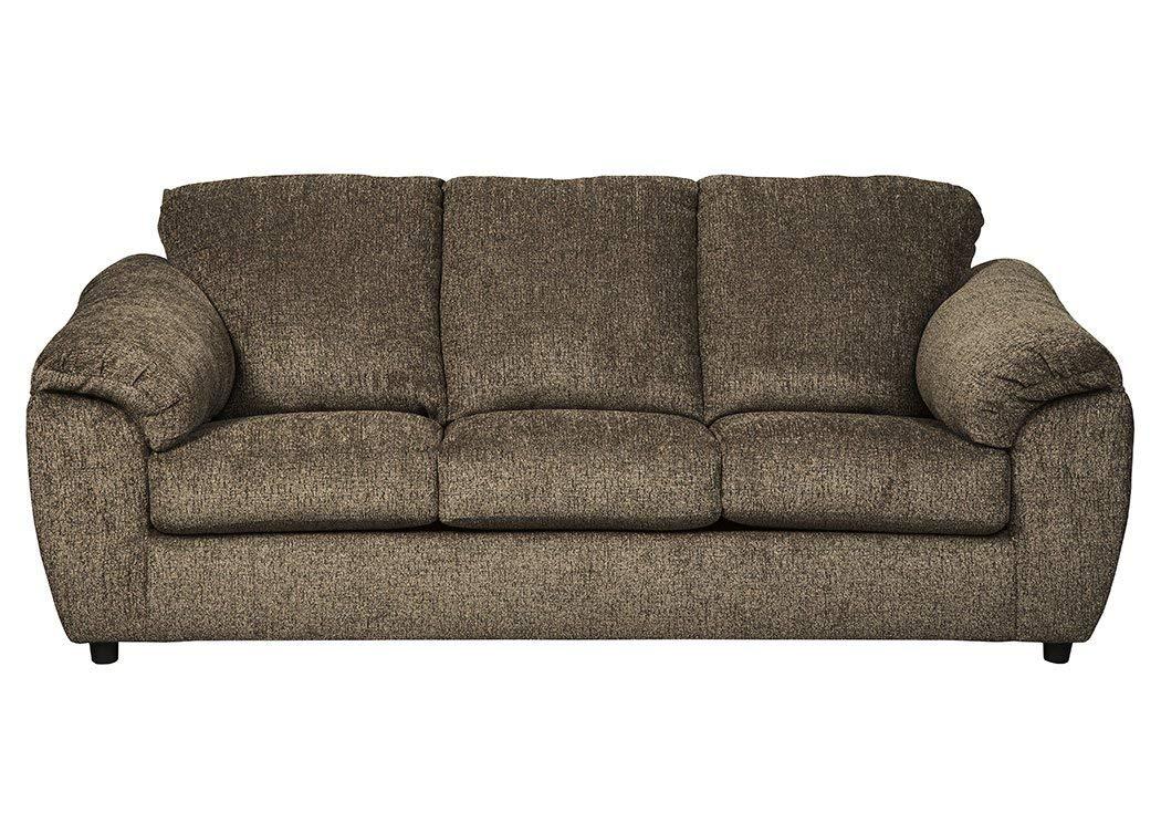Ashley Furniture Signature Design - Azaline Contemporary Upholstered Sofa - Umber