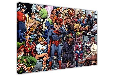 POP ART CANVAS WALL ART PRINTS PICTURES DC COMICS JUSTICE LEAGUE ...
