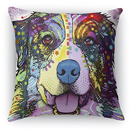 Australian Shepherd Printed on a 18×18 inch Square Pillow Double-Sided Dean Russo