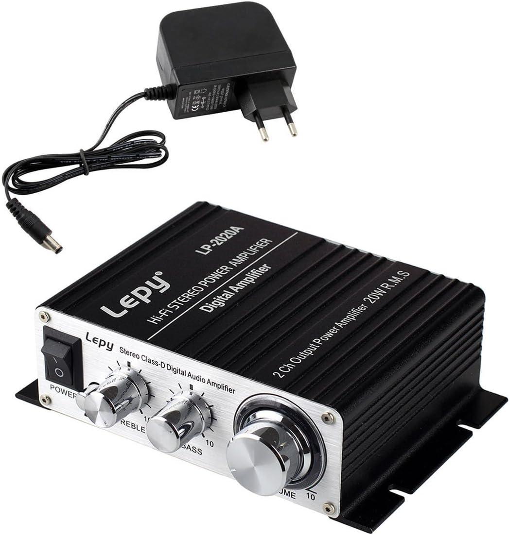 LEPY LP- 2020A + HiFi (2 x 20W) Amplificador Audio para MP3 MP4 ...