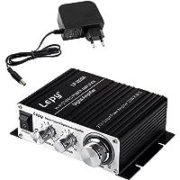 LEPY LP- 2020A + HiFi (2 x 20W) Amplificador Audio para MP3 MP4 Amplificador Estereo para Telefono Ordenador DAC y etc…