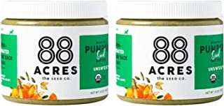 product image for 88 Acres Organic Pumpkin Seed Butter | Unsweetened | Keto-Friendly, Gluten Free, Dairy Free, Nut-Free Seed Butter Spread | Vegan & Non GMO | 2 Pack, 14 oz