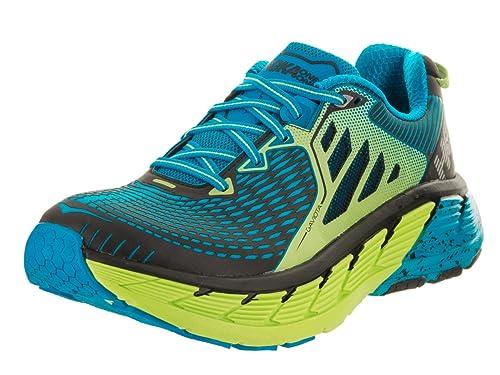 aa43e626c1a95 HOKA ONE ONE Gaviota Bright Green/Blue Men's Running Shoes (11.5 ...
