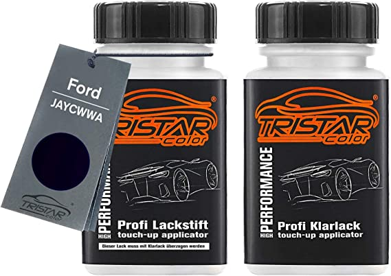 Tristarcolor Autolack Lackstift Set Für Ford Jaycwwa Pantherschwarz Perl Negro Grafito Metallic Basislack Klarlack Je 50ml Auto
