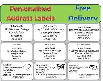 personalised address labels stickers return address labels 100