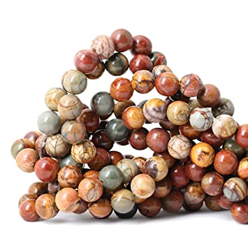 """15/""""Charm Jasper Gem Stone Loose Spacer Beads Strand Jewelry Finding Craft 4-10mm"""
