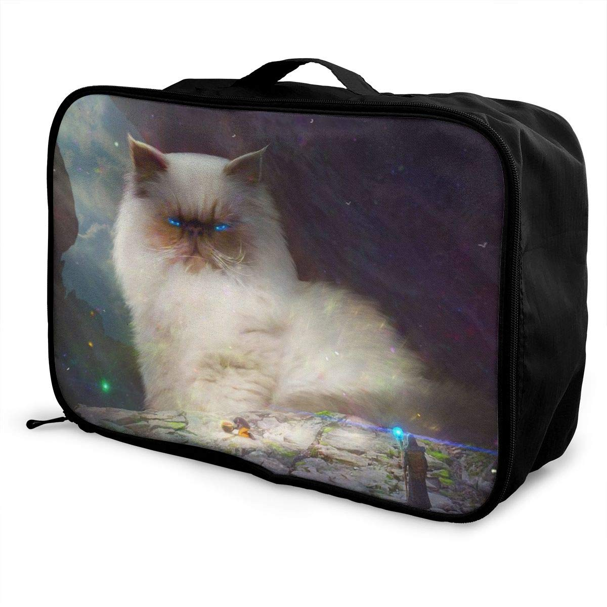 Cat King And Magician Travel Lightweight Waterproof Foldable Storage Portable Luggage Duffle Tote Bag Large Capacity In Trolley Handle Bags 6x11x15 Inch