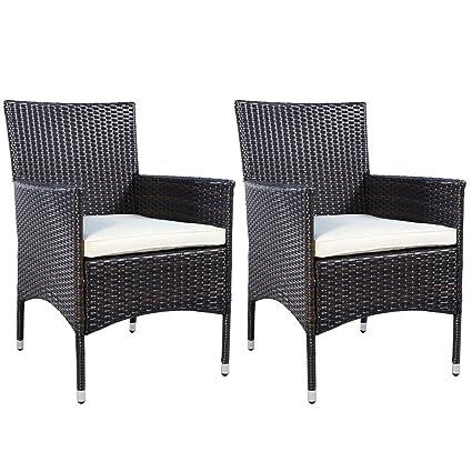 Amazon.com: Muebles de mimbre de la mejor calidad, 2 sillas ...