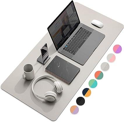 Ysagi Schreibtischunterlage Tischunterlage Pu Leder Laptop Tischunterlage Ultradünnes Schreibunterlage Zweiseitig Nutzbar Ideal Für Büro Und Zuhause Grau 80 40 Cm Bürobedarf Schreibwaren