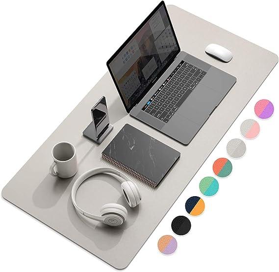 lila//rosa, 60 x 34,8 cm doppelseitig Weelth Schreibtischunterlage PU-Leder Schreibtischunterlage wasserdichte Schreibunterlage f/ür B/üro und Zuhause