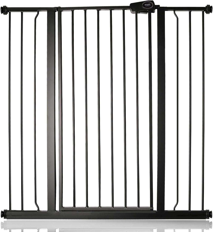 Bettacare Barrera de Seguridad para niño y Mascota Negro Mate 100.8cm - 108.4cm: Amazon.es: Bebé