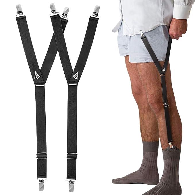 Men's Suspenders 1 Pair Fashion Elastic Adjustable Legs Belts Suspenders For Men Shirt Holders Suspenders Mens Clothes Accessories