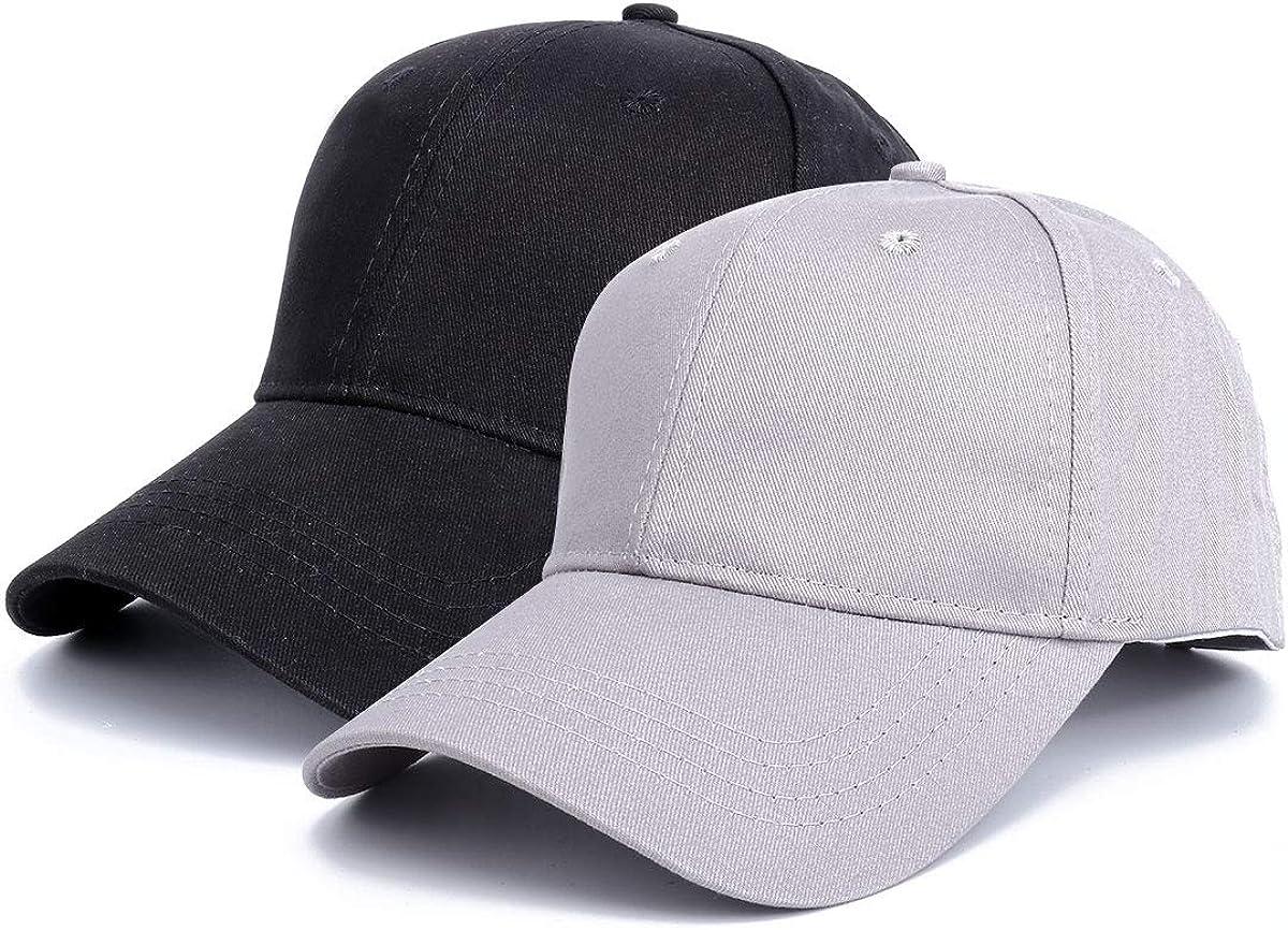 Black+Grey Sun Messy High Bun Cap Adjustable Pony Caps Sports Casual Trucker Hats Cap for Mens Women Ponytail Baseball Cap Mesh Cap Classic Plain Hat