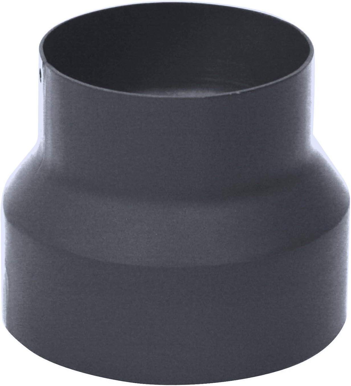 Kamino–Flam – Adaptador de reducción para tubo de chimenea Acero Tubo reducción estufa, Reductor tubo escape, Chimenea reducción, Antracita, Ø 150-120 mm