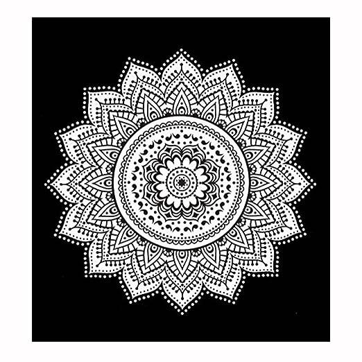 Toallas de playa de yoga redondo Tapestry Mandala Yoga ...