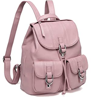 5b457bc2f9 Amazon.com  Jonon PU Leather Backpack for Women