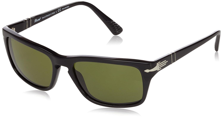 7be78ebf4774 Persol 3074 95/P1 Black 3074S Wayfarer Sunglasses Polarised Lens Category  3: Amazon.co.uk: Clothing