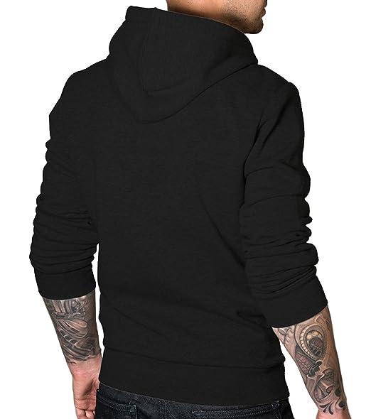 9742d6199ed Amazon.com  Decrum Skeleton Hoodie - Black Mens Pullover Hoodie  Clothing