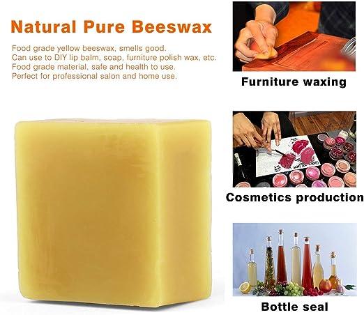 Cosm/ética natural miel muebles cera polaca 100/% org/ánica natural pura cera de abejas grado alimenticio amarillo cera de abejas DIY b/álsamo labial amarillo