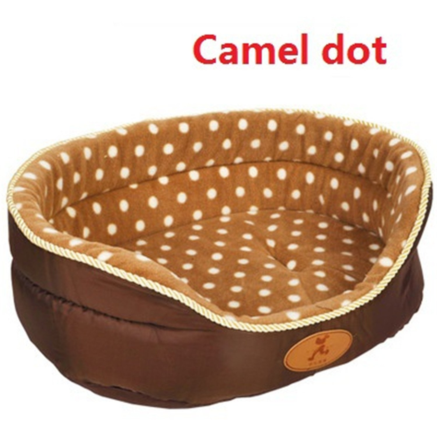 Camel dot M camel dot M Feroni Double Sided Available All Seasons Big Size Extra Large Dog Bed House Sofa Kennel Soft Fleece Pet Dog Cat Warm Bed s-XL Camel dot M