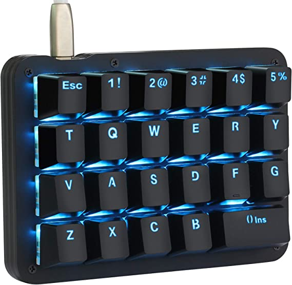 Koolertron One Handed Macro Mechanical Keyboard