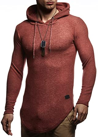 a5427d52167b LEIF NELSON Herren Pullover Hoodie Kapuzenpullover Longsleeve Sweatshirt  Langarm LN8145  Amazon.de  Bekleidung