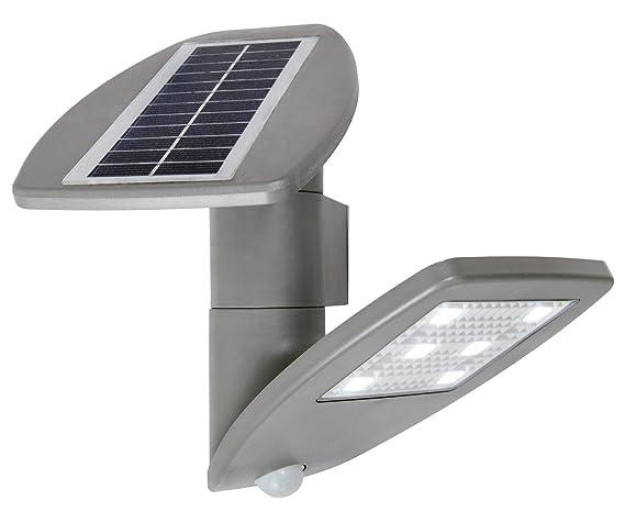 """lutec Solar lámpara de pared""""Zeta con panel solar y detector de movimiento,"""