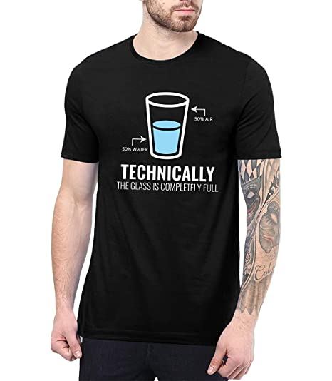 c316a0c86 Decrum Mens Black Funny Science T Shirts for Men - Science Shirts Men |Technically  Glass