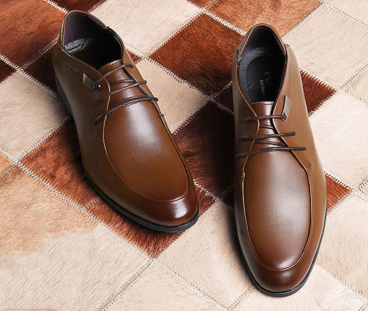 LEDLFIE Business Herrenschuhe Aus Echtem Leder Leder Schuhe Braun Casual Formelle Tragen Männer Braun Schuhe 8bad64