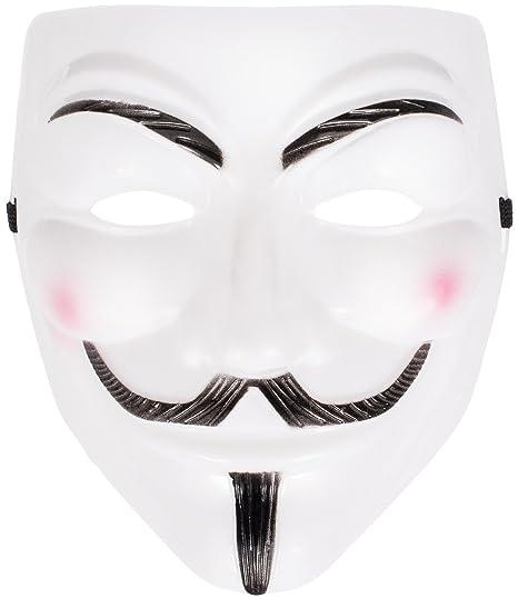 Anonymous Máscara Vendetta Halloween Carnaval Disfraz Anonymus Máscara Máscara de Guy Fawkes