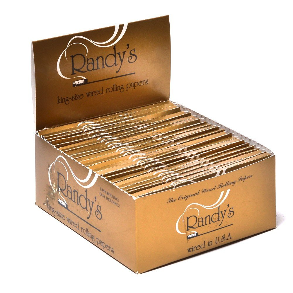 Randy's Wired Rolling Papers King Size (2 Boxes - 25 Units per Box) - MJ-1225