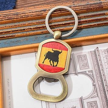 MINTUAN Llavero abridor de toros de España para Hombre Abrigo Superior de Resina Llavero Animal Abridor de Llavero de Estilo Vintage para Cerveza: Amazon.es: Juguetes y juegos