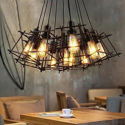 GBYZHMH Plancha Industrial Tienda de Ropa Retro Viento Office Bar Restaurante Escalera Candelabro tamaño 100cm A++