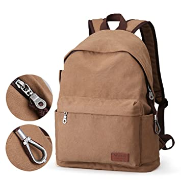 mochila Bolso de lona ocasional de los hombres Mochila para computadora Bolsa de viaje Moda bolsos de tendencia de los estudiantes universitarios ...